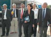 Visit ministers to the Civil Protection in Jabbeke